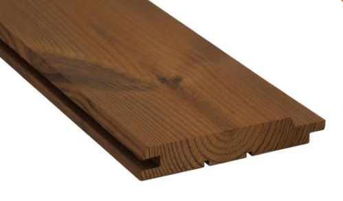 Thermowood 18/130mm netto, bardage V-rainure /mct