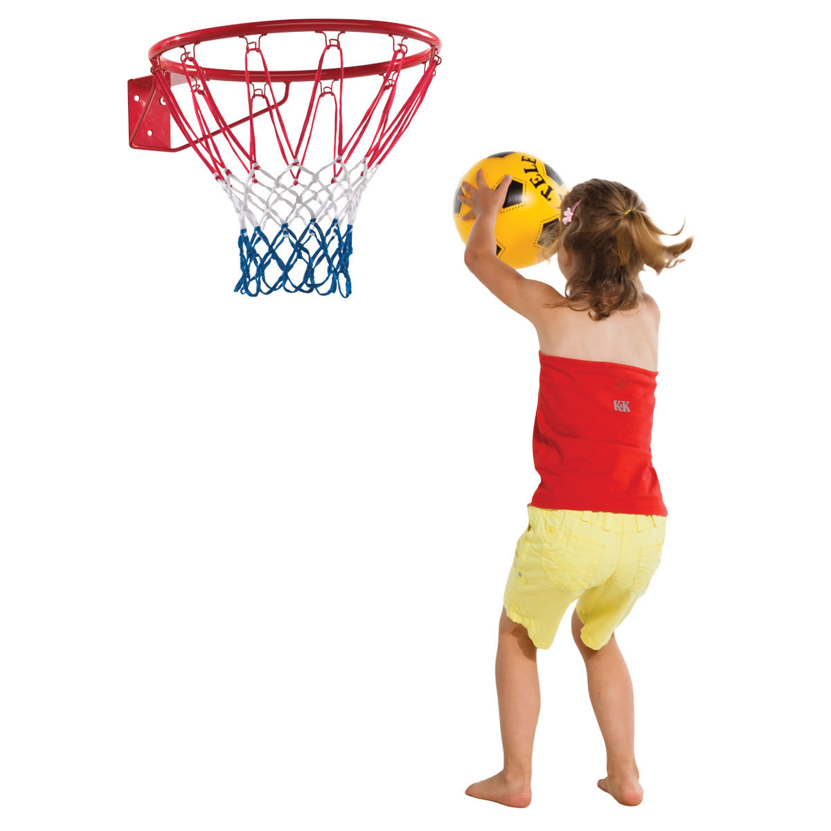 Basketbalring - rood
