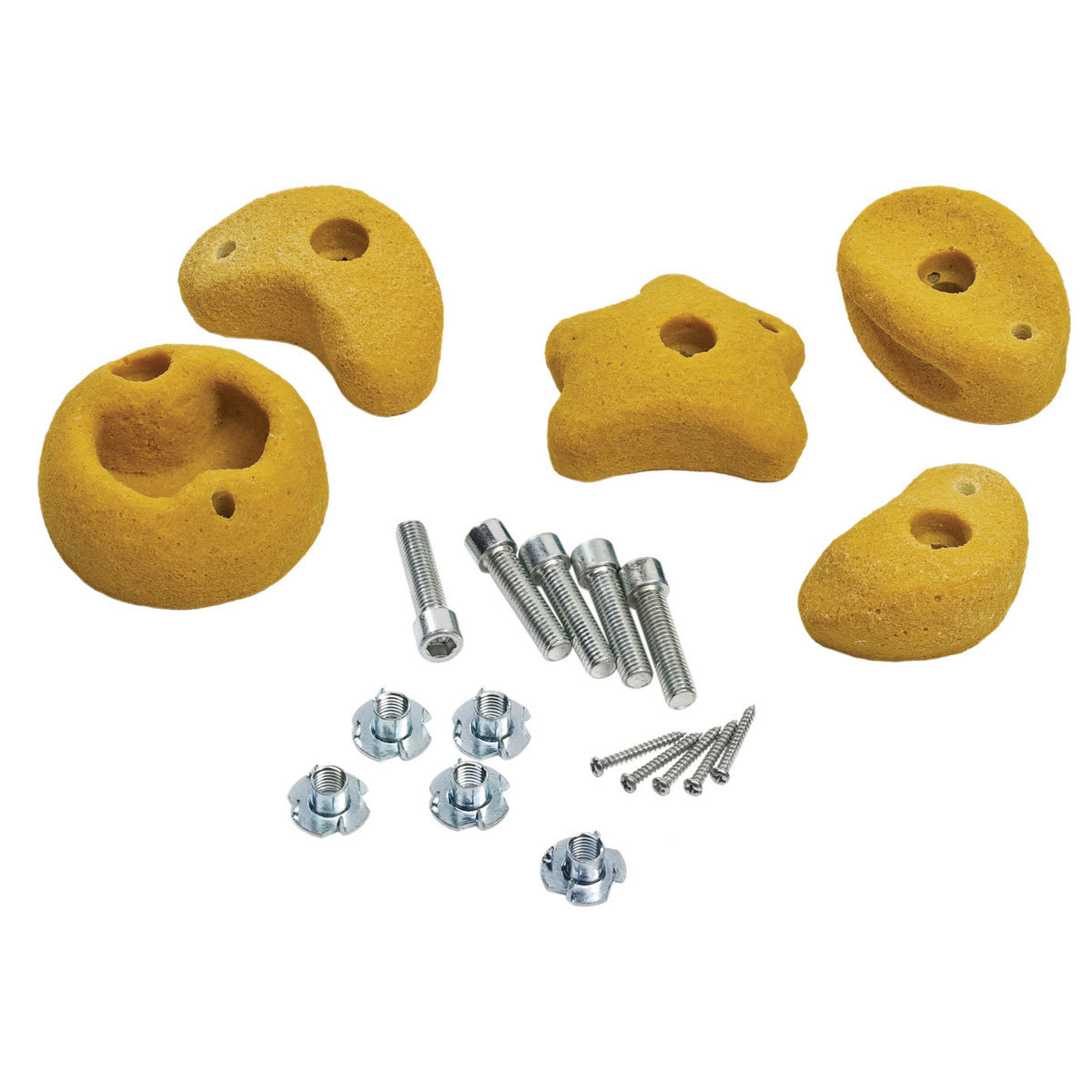 pierres à grimper - set de 5 pièces - medium - jaune