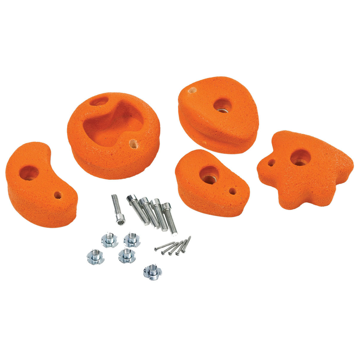 pierres à grimper - set de 5 pièces - medium - orange