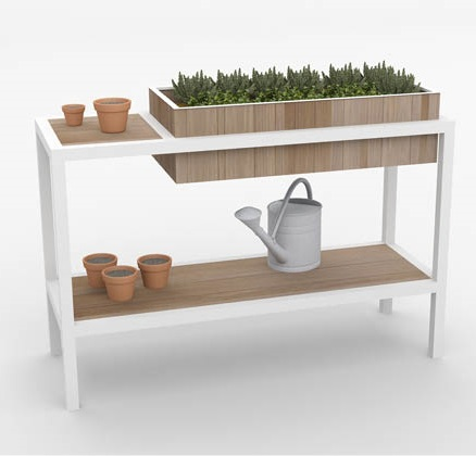 CL Decoratie Planter Afrormosia 985x1400x500