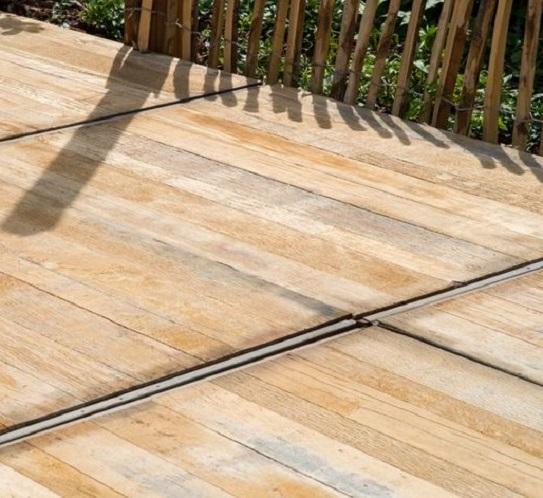 Steenschotten azobe 100x145cm - dikte 4cm